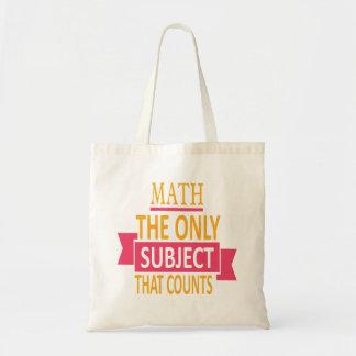 Bolsa Tote Matemática. O único assunto que conta. Piada da