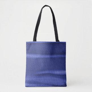 Bolsa Tote matiz enrugado do azul do efeito