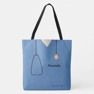 Bolsa Tote Médico esfrega a enfermeira AOPM azul
