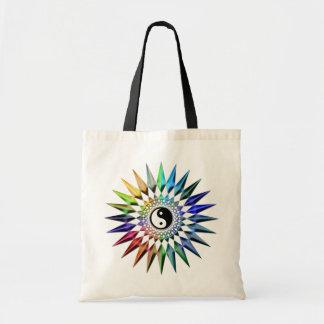 Bolsa Tote Meditação colorida Tao da ioga calma do zen de Yin