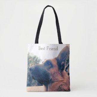 Bolsa Tote Melhor amigo. Cão