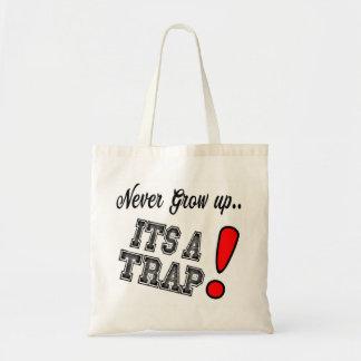 Bolsa Tote Meme honesto da sacola - nunca cresça acima, seu