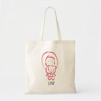 Bolsa Tote Menina com sacola do urso