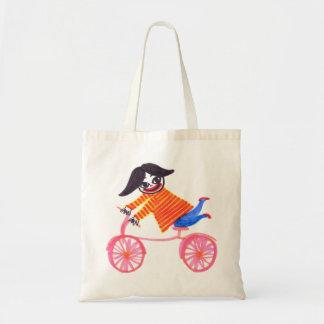 Bolsa Tote Menina da bicicleta