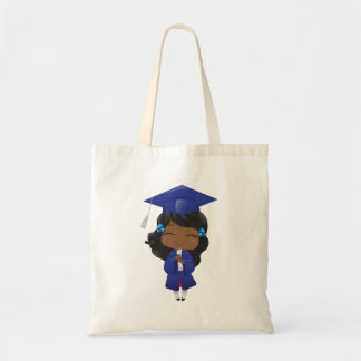 Bolsa Tote Menina da graduação no azul