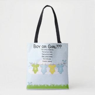 Bolsa Tote Menina de maternidade do menino do saco do