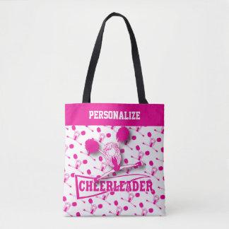 Bolsa Tote Menina do cheerleader do rosa quente