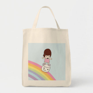 Bolsa Tote Menina dos desenhos animados na sacola do