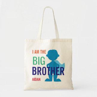 Bolsa Tote Meninos personalizados big brother da silhueta do