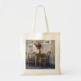 Bolsa Tote Mesa e garrafa das cadeiras do vinho