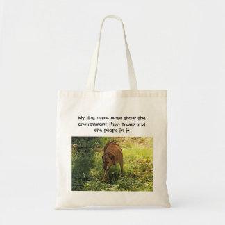 Bolsa Tote Meu cão importa-se mais com o ambiente do que o