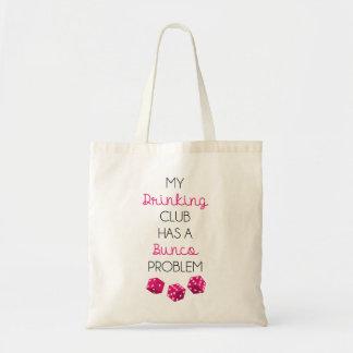 Bolsa Tote Meu clube do bebendo tem um saco engraçado do