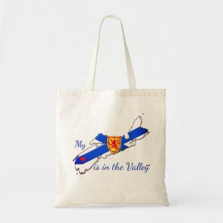 Bolsa Tote Meu coração está no saco de Nova Escócia do vale