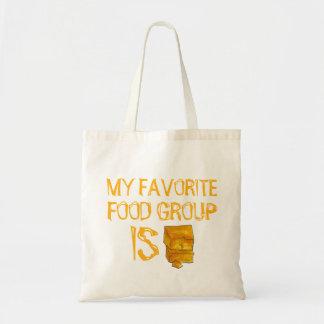 Bolsa Tote Meu grupo de comida favorito é sacola do queijo