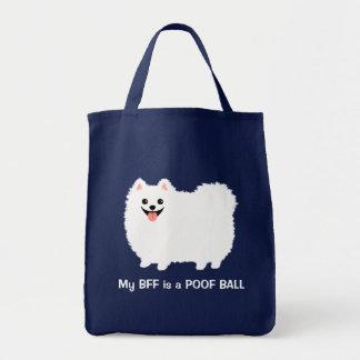 Bolsa Tote Meu melhor amigo é uma BOLA do POOF - Pomeranian