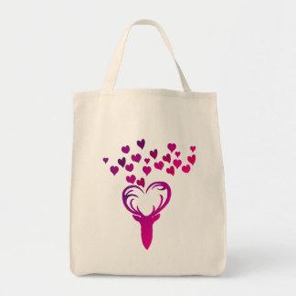 Bolsa Tote Meu saco de compras do coração dos cervos