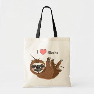 Bolsa Tote Mim animais do bebê das preguiças do coração