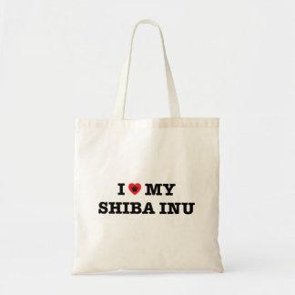 Bolsa Tote Mim coração minha sacola de Shiba Inu