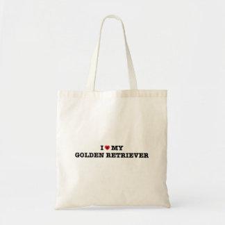 Bolsa Tote Mim coração minha sacola do golden retriever