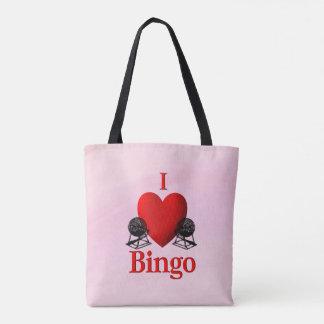 Bolsa Tote Mim rosa do Bingo do coração