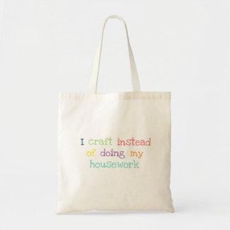 Bolsa Tote Mim sacola engraçada do logotipo do artesanato