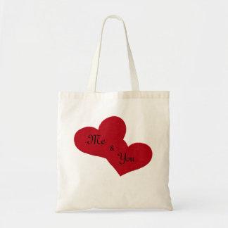 """Bolsa Tote """"Mim & você"""" sacola"""
