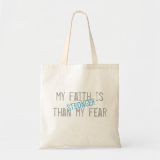 Bolsa Tote Minha fé é mais forte do que meu medo