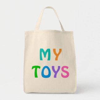 Bolsa Tote MINHA sacola dos BRINQUEDOS para miúdos