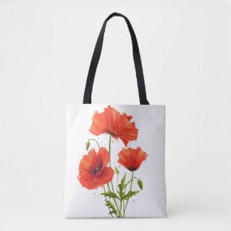 Bolsa Tote Minhas papoilas das flores