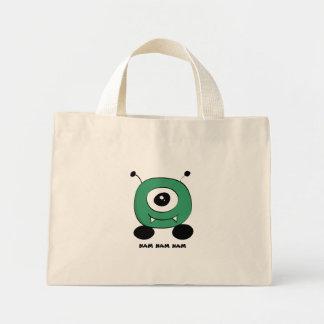 Bolsa Tote Mini Alienígena verde engraçada bonito