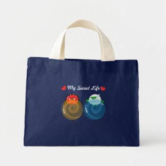 Bolsa Tote Mini Amantes customizáveis dos doces do Dia das Bruxas