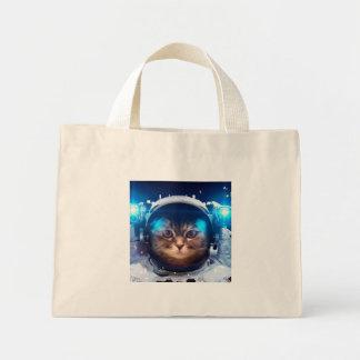 Bolsa Tote Mini Astronauta do gato - gatos no espaço - espaço do
