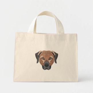 Bolsa Tote Mini Cão Brown Labrador da ilustração
