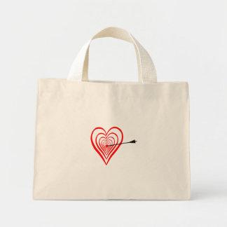 Bolsa Tote Mini Coração alvo com seta