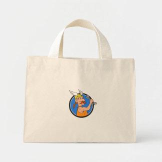 Bolsa Tote Mini Desenhos animados do círculo da chave inglesa do