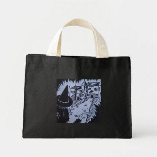 Bolsa Tote Mini doçura ou travessura assombrada mão knarled bruxa
