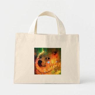 Bolsa Tote Mini espaço - doge - shibe - uau doge