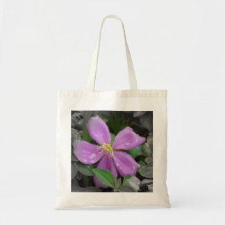Bolsa Tote Mini flor roxa