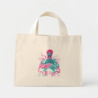 Bolsa Tote Mini Ilustração do polvo - vintage - kraken
