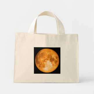 Bolsa Tote Mini Lua cheia alaranjada