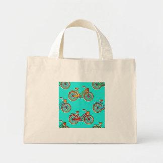 Bolsa Tote Mini Luz - sacola pequena da bicicleta azul