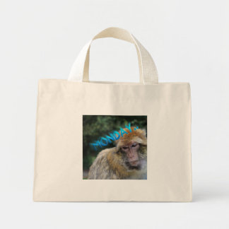 Bolsa Tote Mini Macaco triste sobre segunda-feira