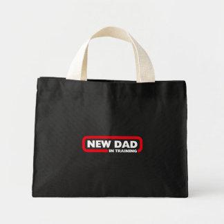 Bolsa Tote Mini Novo papai no treinamento - saco para um pai