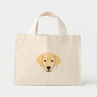 Bolsa Tote Mini Ouro Retriver do filhote de cachorro da ilustração