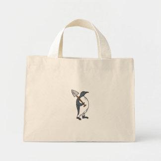 Bolsa Tote Mini Pinguim de imperador que guardara o desenho da pá
