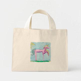 Bolsa Tote Mini Pintura criançola da aguarela com cavalo do