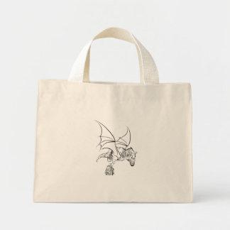 Bolsa Tote Mini Raptor/tribal voados