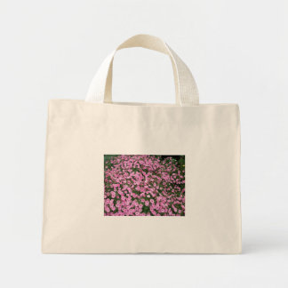 Bolsa Tote Mini Saco cor-de-rosa dos petúnias