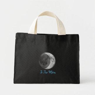 Bolsa Tote Mini Saco preto da lua