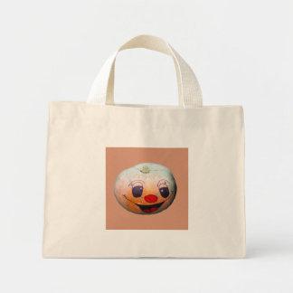 Bolsa Tote Mini Sacola engraçada da cara da abóbora